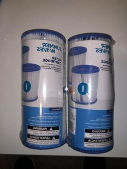 Summer Waves 2 Pack x3  I Type Filter Cartridge Pools Hot Tu