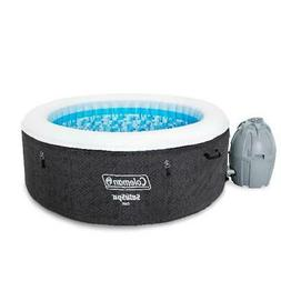 2 to 4 Person Inflatable Hot Tub Spa w/ Pump Heated Filter C