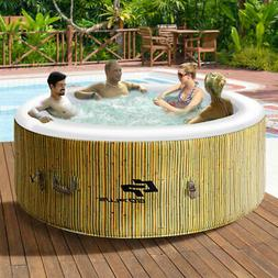4 Person Inflatable Hot Tub Outdoor Jets Portable Heated Bub