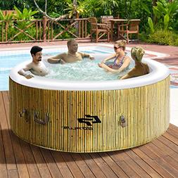 Goplus 4 Person Inflatable Hot Tub Outdoor Jets Portable Hea