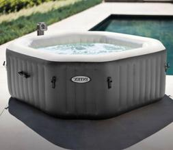 Intex 4 Person Octogonal Portable Inflatable Hot Tub
