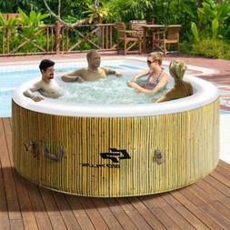 4 Person Massage Spa Portable Hot Tub Inflatable Outdoor Hea