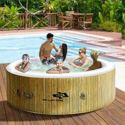6 Person Inflatable Hot Tub Outdoor Jets Portable Heated Bub