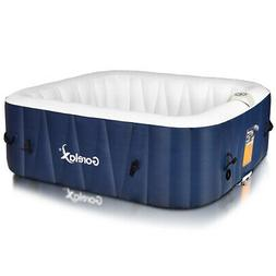 6-Person Inflatable Hot Tub Portable Outdoor Spa Bubble Jet