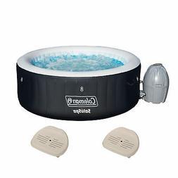 Coleman SaluSpa 4 Person Inflatable Outdoor Spa Hot Tub + 2