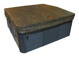 "Square 5"" x 3"" Tapered Spa Cover, 4"" Radius"