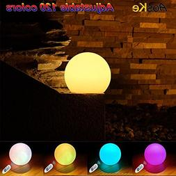 AosKe 8-Inch  LED Floating Pool Balls Waterproof Pool Light