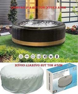 EXOTIC Family Inflatable Hot Tub 4/6 Person Portable Spa/Cov