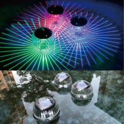 Floating Solar Color Change LED Disco Light Show Swimming Po
