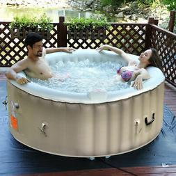 Goplus Portable Inflatable Bubble Massage Spa Hot Tub 4 Pers