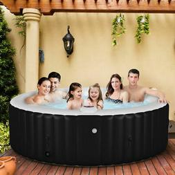 Goplus Portable Inflatable Bubble Massage Spa Hot Tub 6 Pers