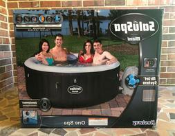 Bestway Hot Tub, Miami , Black Inflatable Saluspa **SHIPS FA