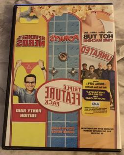 Hot Tub Time Machine + Porkys + Revenge of the Nerds DVD Tri