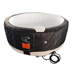 ALEKO HTIR4BKWH Round Inflatable Hot Tub Spa with Zip Cover