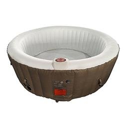 ALEKO HTIR4BRW Round Inflatable Hot Tub Spa with Cover 4 Per