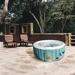 ALEKO HTIR4GRW Round Inflatable Hot Tub Spa with Cover 4 Per