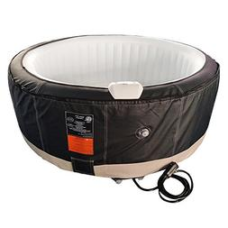 ALEKO HTIR6BKWH Round Inflatable Hot Tub Spa with Zip Cover