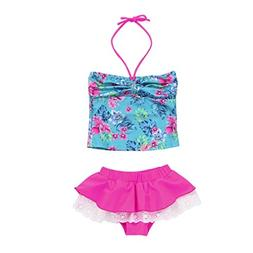 Hunputa 2Pcs Infant Kids Baby Girls Swimwear Straps Swimsuit