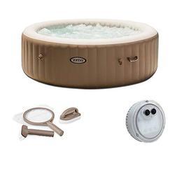 Intex Inflatable PureSpa 6-Person Portable Hot Tub, LED Ligh