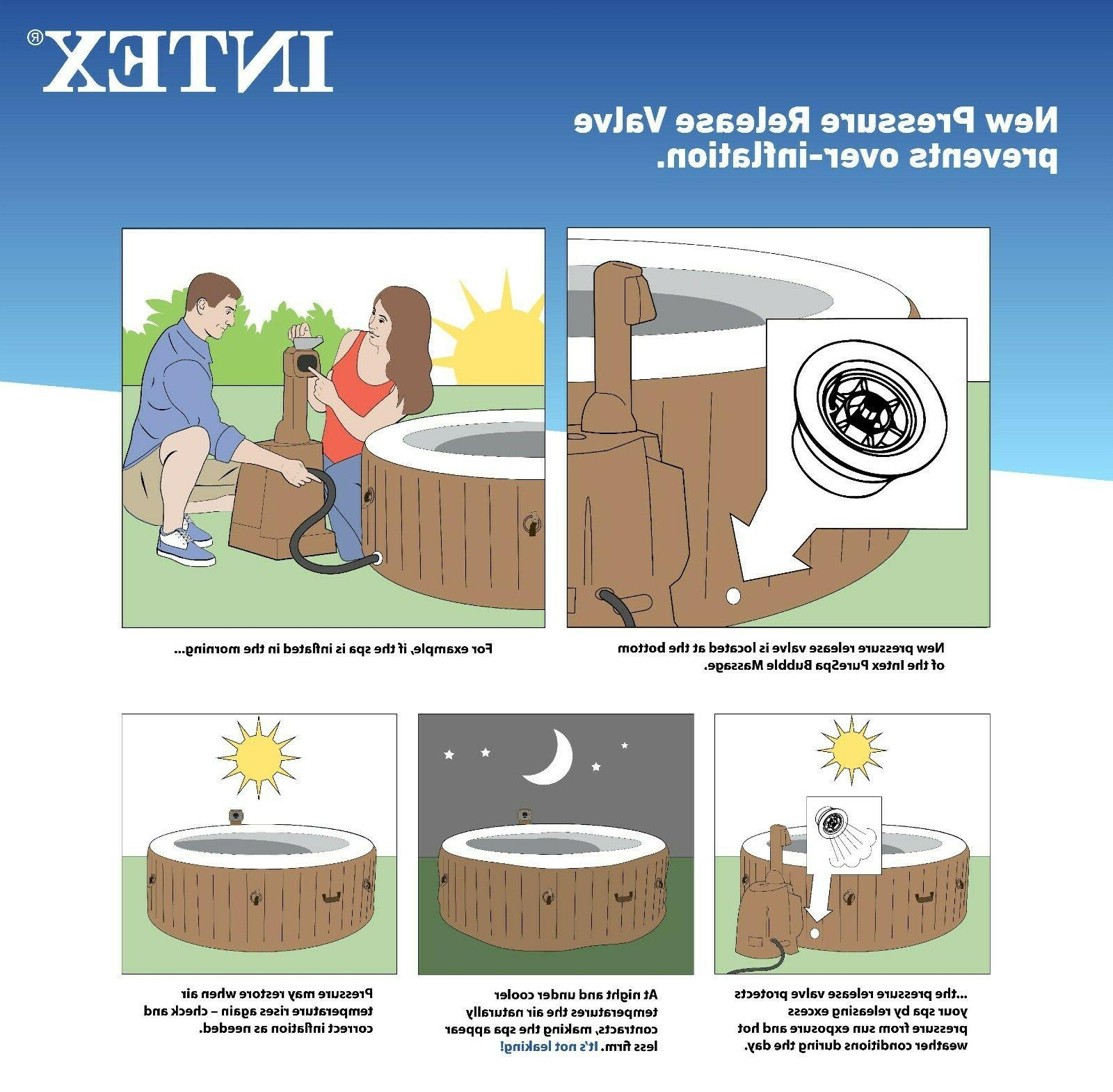 Intex Bubble 4-Person Hot Tub Day Ship