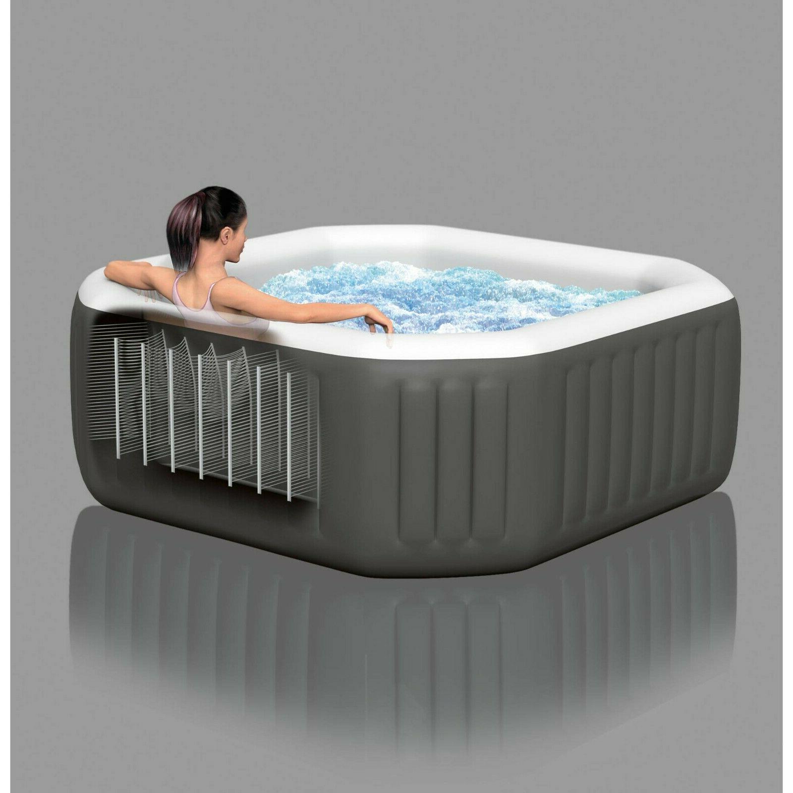 Intex 120 Bubble 4-Person Octagonal Inflatable Hot Tub - Same Day Ship