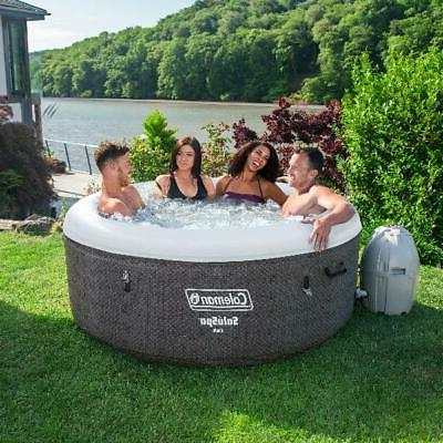 2 Inflatable Tub w/ Pump Heated Cover Portable