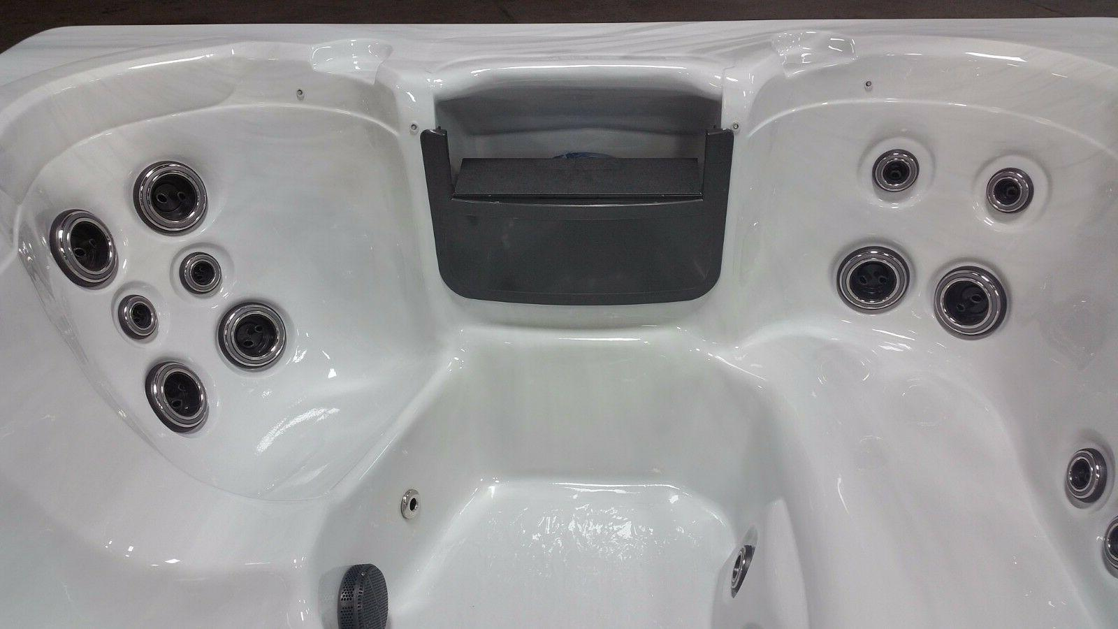 5 Person Whirlpool Spa Tub 23 Waterfall and LED Perimeter