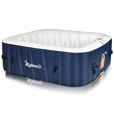 6 person inflatable hot tub portable outdoor