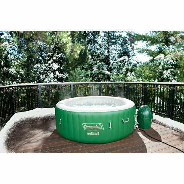 "Coleman 77"" SaluSpa Inflatable Tub w/ Green/White"