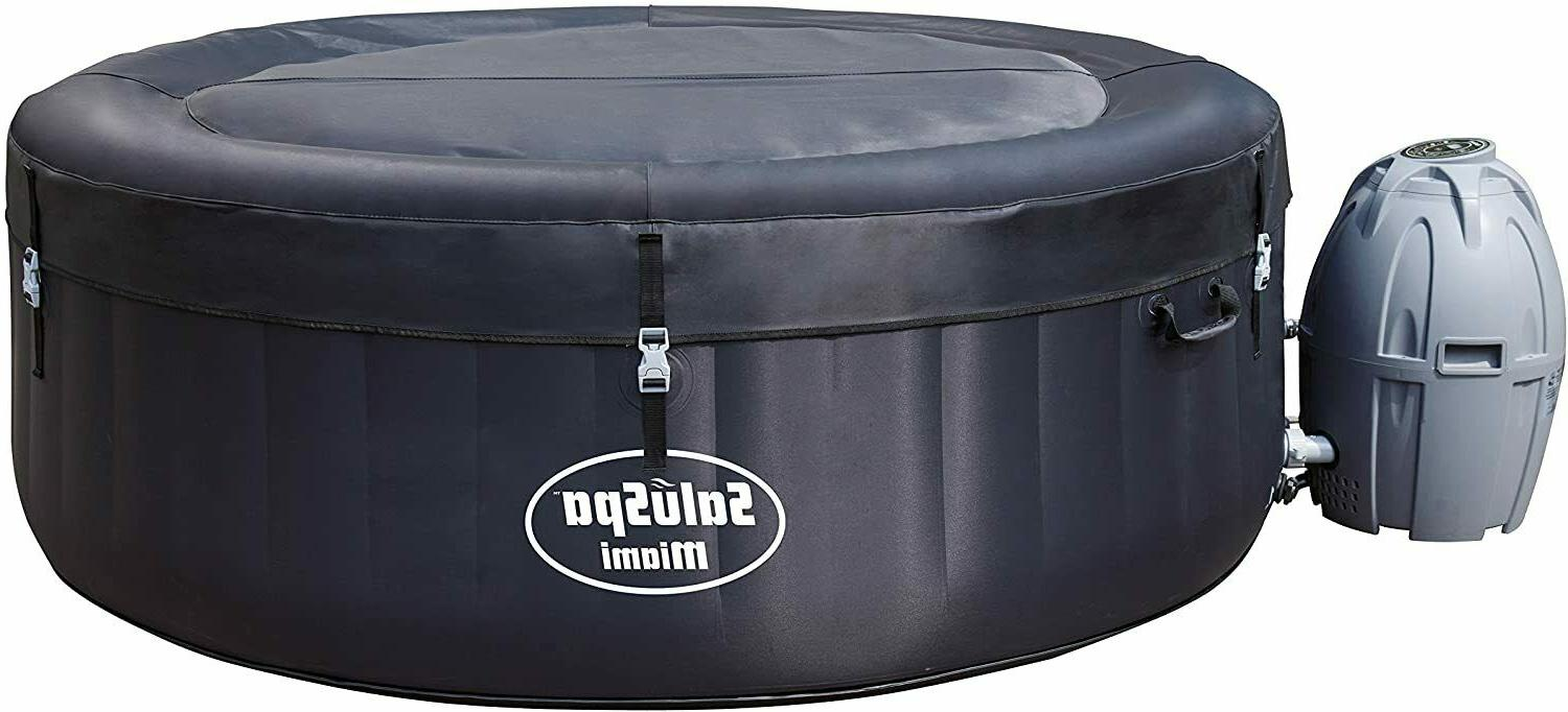 Bestway Inflatable Hot Tub, 4-person, Black 71 x 71 x 26 inc