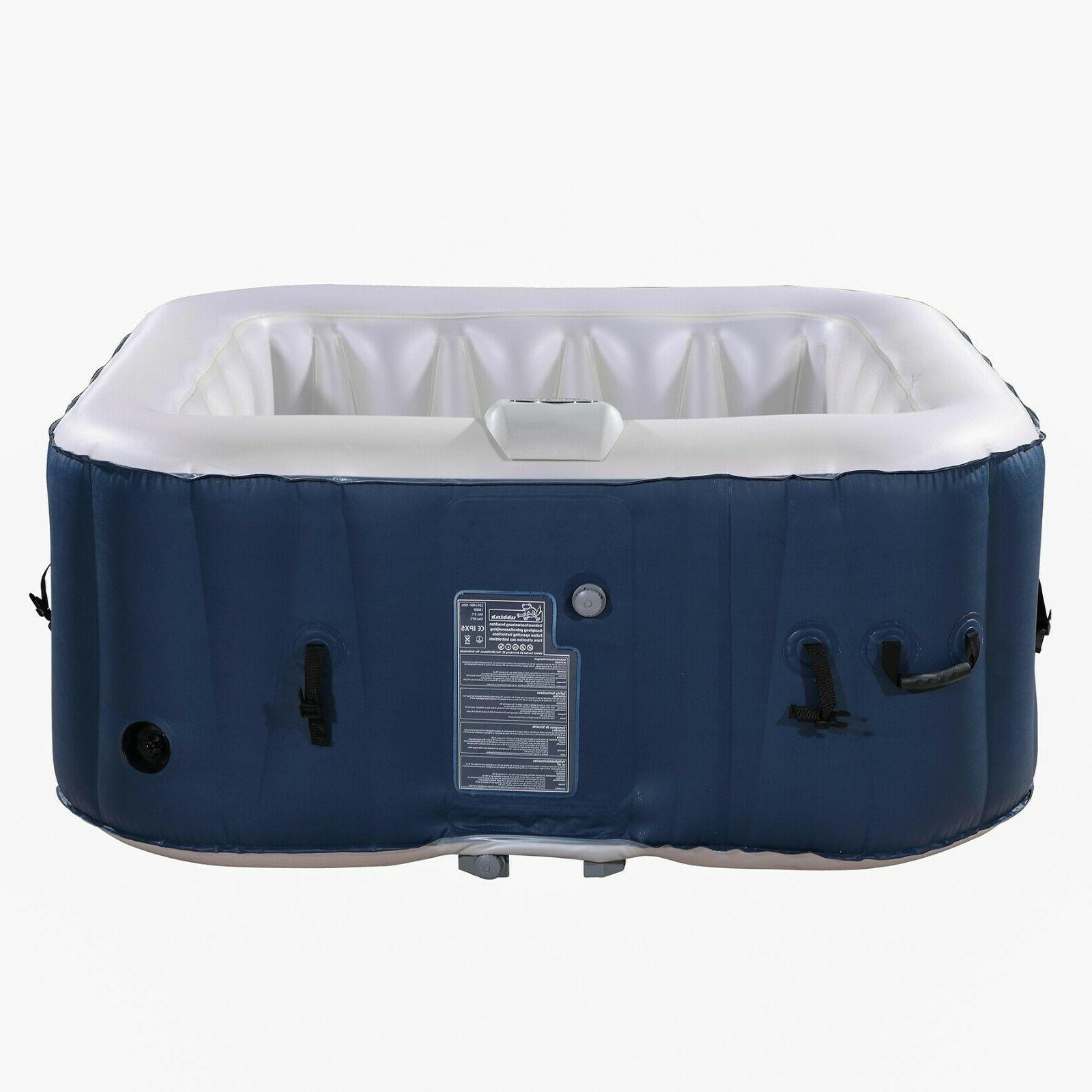 Inflatable Hot 2-4 Person Blow Spa w Bubble Jets