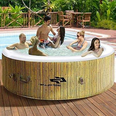 inflatable portable hot tub heated bubble jacuzzi