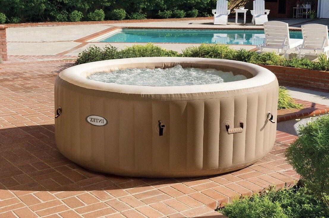 New Intex 4 Person Purespa Bubble Massage Hot Tub 28425E