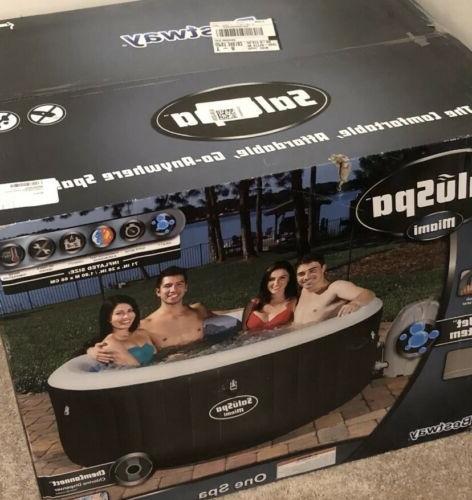 new saluspa miami inflatable hot tub 4