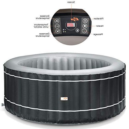 Goplus Hot Portable Outdoor Spa Bubble Spa Set