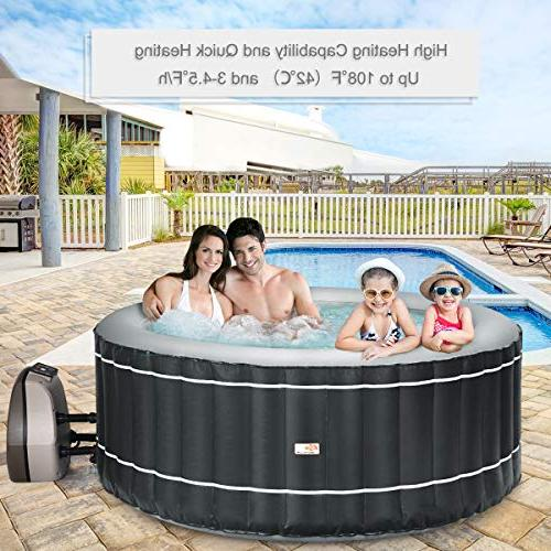 Goplus Inflatable Hot Spa Spa w/Accessories