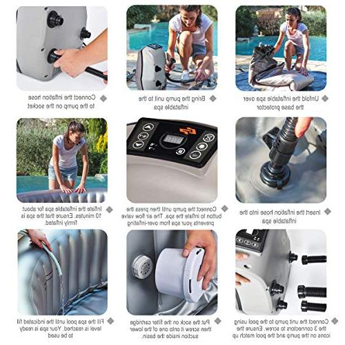 Goplus Inflatable Hot Tub Spa Bubble Spa