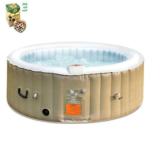 portable inflatable bubble massage spa