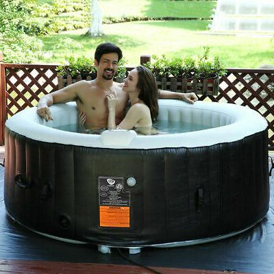 Portable Inflatable Spa Tub Person Relaxing