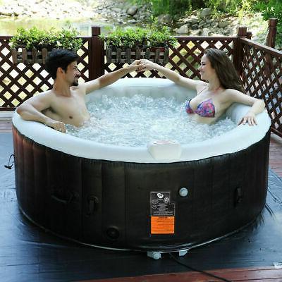 portable inflatable bubble massage spa hot tub