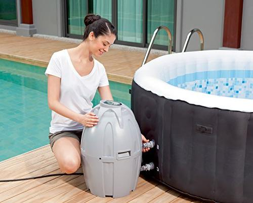 Inches Portable Inflatable 4-Person Tub, Black, 13804