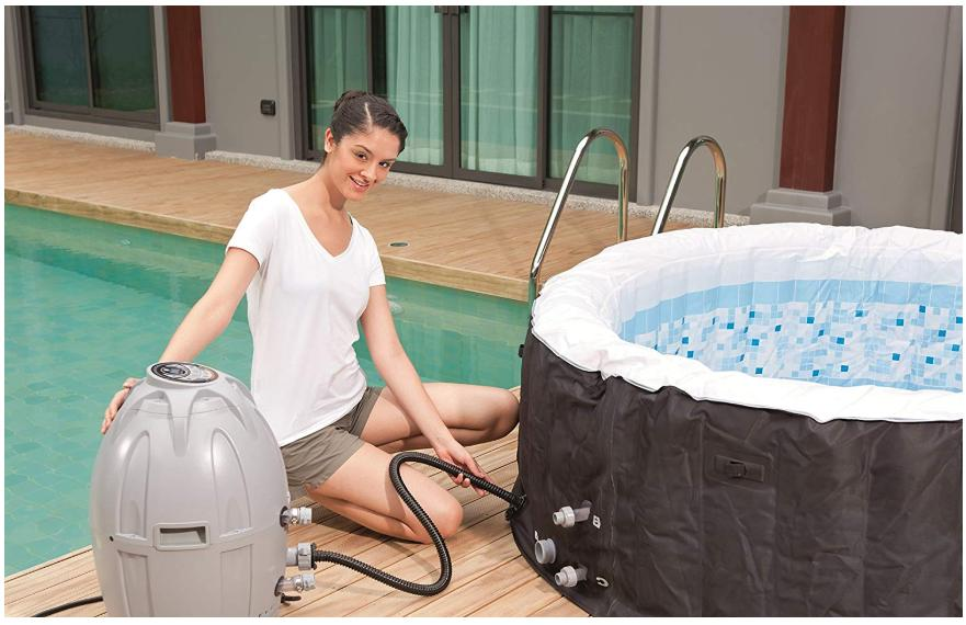 Protable Air Jet Inflatable Hot Tub 4 Massage