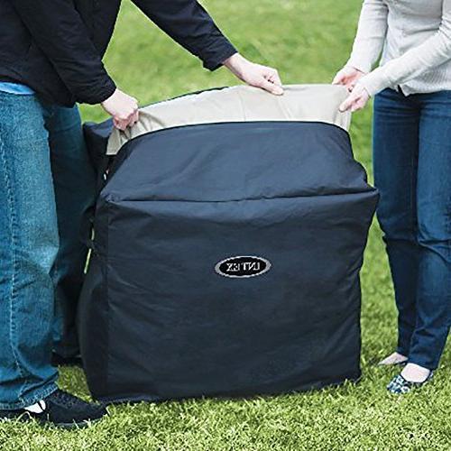 Intex 4-Person Inflatable Bubble Spa Portable Hot Tub Cover