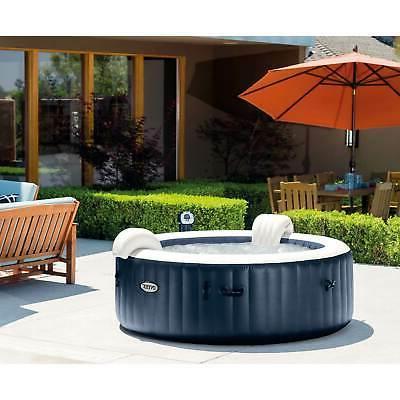 Intex 4 Home Inflatable Portable Heated Bubble Hot Tub
