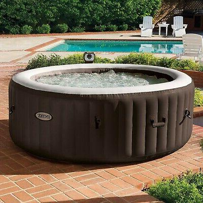 Intex PureSpa 4 Person Inflatable Bubble Hot with Bench Add
