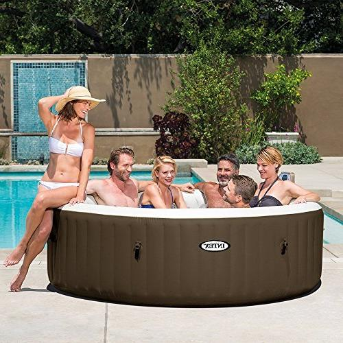 Intex 6-Person Inflatable Bubble Jet Hot Tub