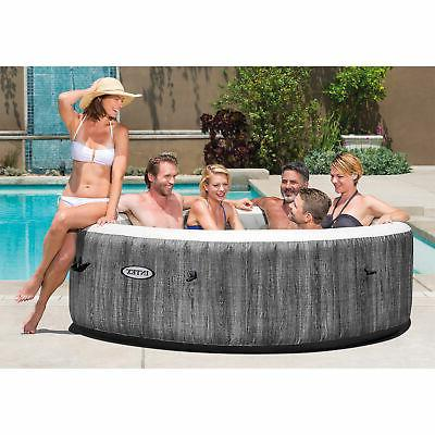Intex Greywood Deluxe 6 Inflatable Hot Tub Spa, Gray