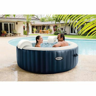Intex PureSpa Person Portable Inflatable Tub Jet Navy