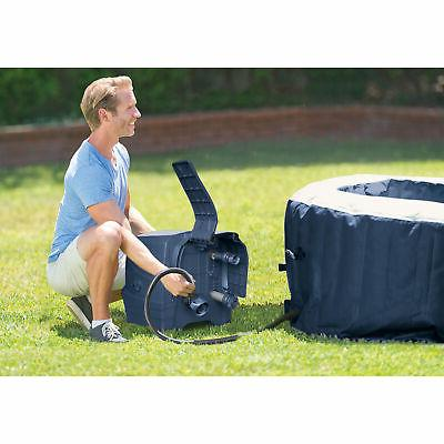 Intex Plus Person Inflatable Tub Jet Navy