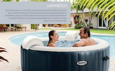 Intex Plus Person Hot Tub Bubble Jet Navy
